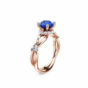14K Rose Gold Engagement Ring Rose Gold Morganite Ring Unique Engagement Ring Morganite Engagement Ring