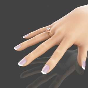 2 Carat Moissanite Engagement Ring 14K Rose Gold Engagement Ring Floral Moissanite Ring