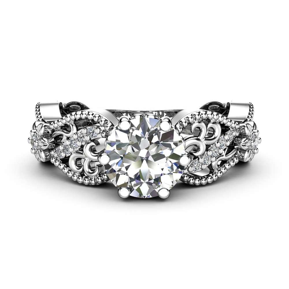 Milgrain Morganite Engagement Ring 14K Rose Gold Diamonds Ring Unique Filigree Ring