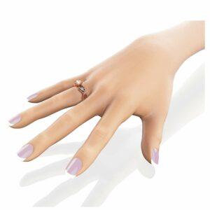 Milgrain Diamond Engagement Ring 14K Yellow Gold Diamonds Ring Unique Filigree Ring
