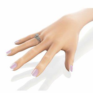 Moissanite Vintage Engagement Ring 14K White Gold Vintage Ring Charles Colvard Moissanite Engagement Ring