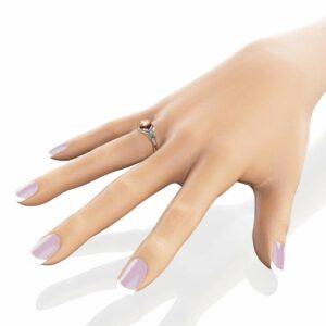 Two Tone Gold Morganite Engagement Ring 14K Vintage Engagement Ring Vintage 1CT Morganite Ring