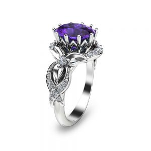 Oval Tanzanite Ring Promise Ring Anniversary Ring in White Gold  Tanzanite Engagement Ring December Birthstone