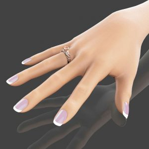 14K Rose Gold Morganite Engagement Ring Peach Pink Morganite Engagement Ring Vintage Styled Filigree Ring