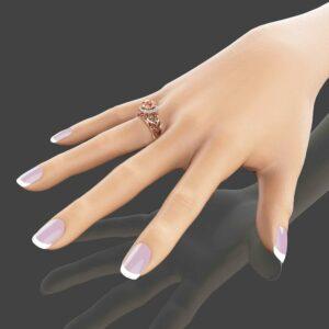 Peach Pink Morganite Engagement Ring Unique 14K Rose Gold Ring 2 Carat Morganite Halo Ring  Filigree Engagement Ring