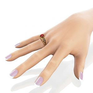 Garnet Vintage Engagement Ring 14K Yellow Gold Vintage Engagement Ring January Birthstone