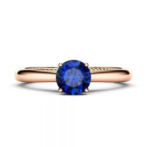 Sapphire Engagement Ring Rose Gold Ring Unique Engagement Ring