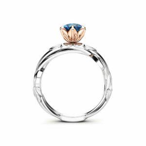 Diamond Engagement Ring Unique Engagement Ring White Gold Ring Diamond Ring