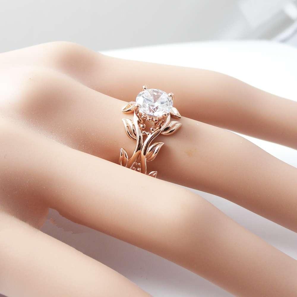 14K Rose Gold Moissanite Ring Moissanite Engagement Ring Rose Gold Engagement Ring Wedding Ring