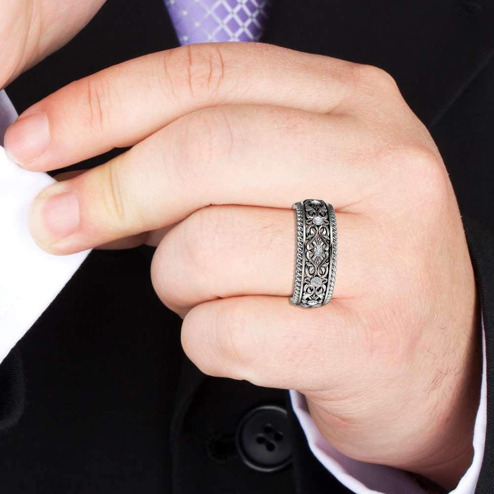 Unique Wedding Band Mens Wedding Band Gold Wedding Ring