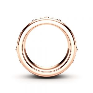 Rose Gold Wedding Band Mens Wedding Ring  Art Deco Wedding Band