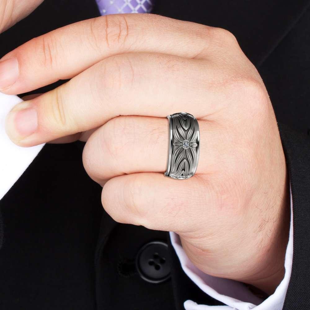 Art Deco Wedding Band Diamond Wedding Bands Gold Wedding Band
