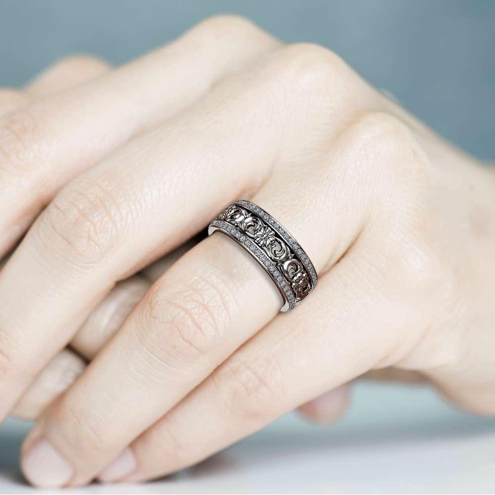 Women Wedding Band Unique Wedding Ring Vintage Wedding Ring