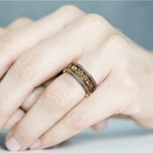 Women Wedding Band Unique Wedding Ring Gold Wedding Rings for Ladies