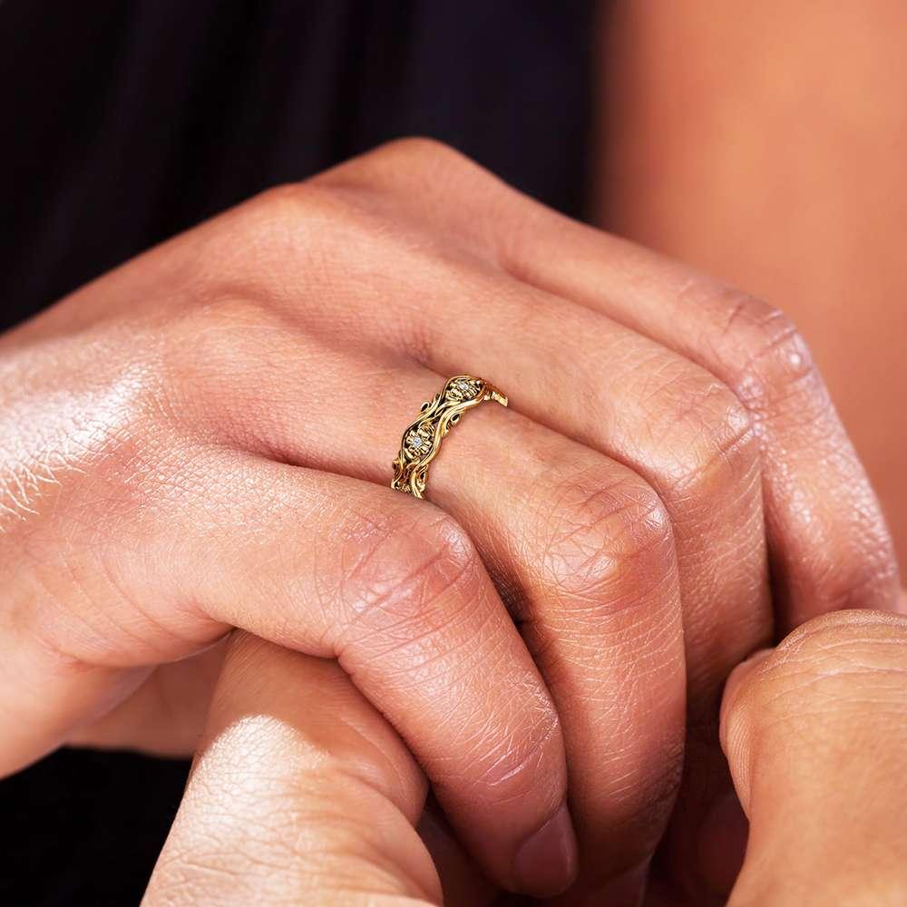 Women Wedding Band Diamond Wedding Band Gold Wedding Ring