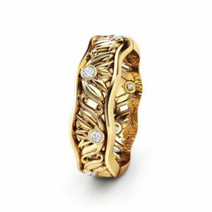 Diamond Wedding Band Women Wedding Band Gold Wedding Ring