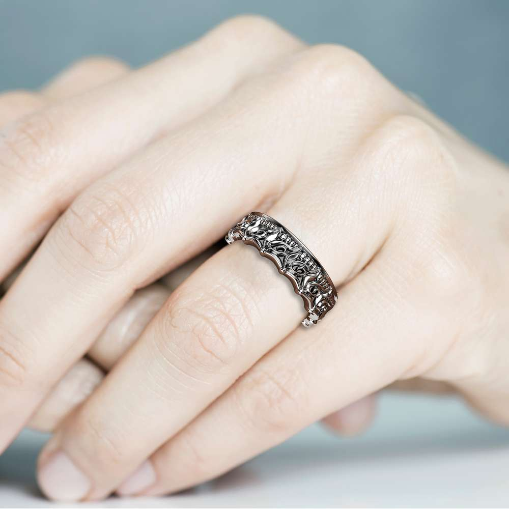 Unique Wedding Band For Her Women Wedding Band Gold Wedding Ring