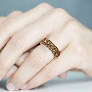 Unique Wedding Band Women Wedding Band Gold Wedding Ring