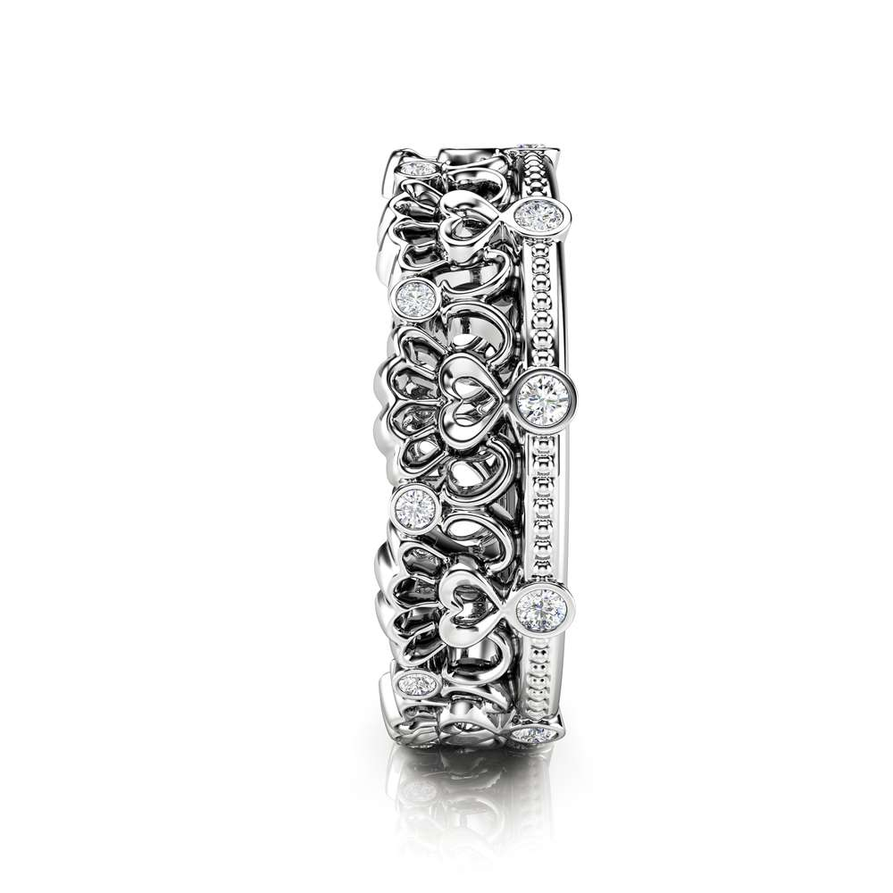 Unique Wedding Band Women Wedding Band Diamond Wedding Band