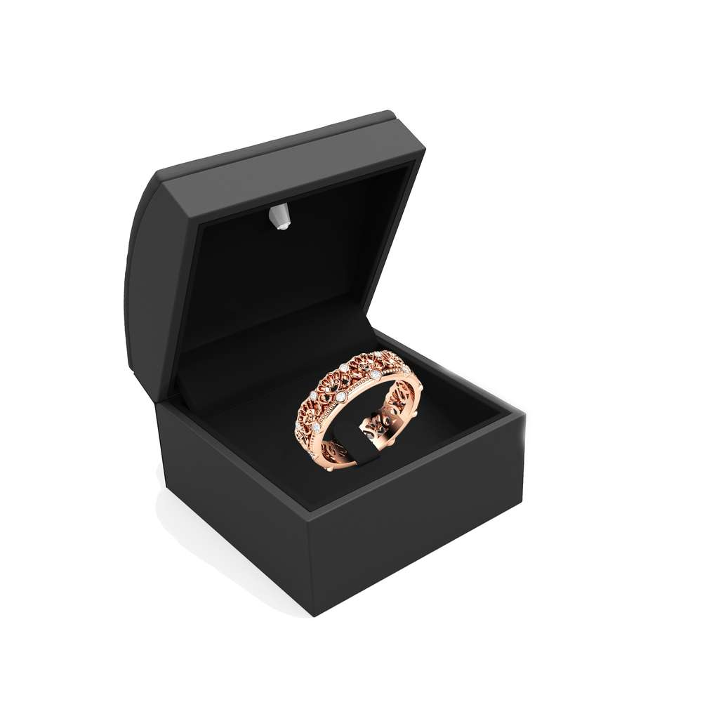 Unique Wedding Band Rose Gold Wedding Band Women Wedding Band