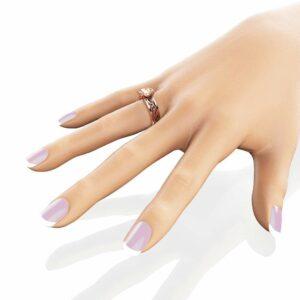 1.5ct Morganite Engagement Ring 14K Rose Gold Morganite Ring Unique Filigree Engagement Ring