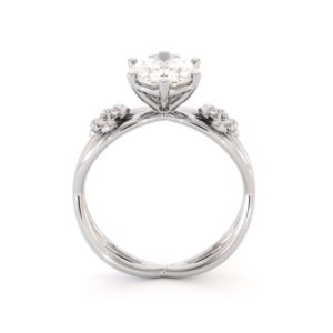 Oval Cut Forever One Moissanite Engagement Ring 14K White Gold Oval Engagement Ring Wedding Gift Ring