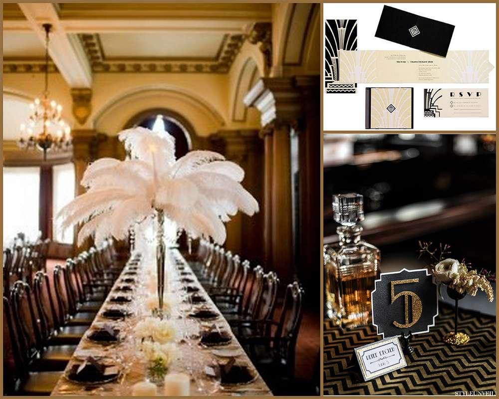great gatsby inpired wedding decor