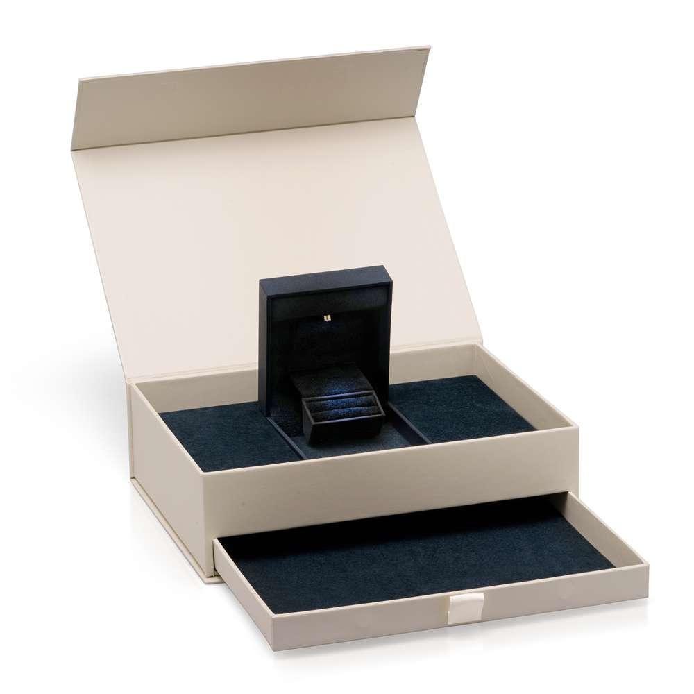 14K White Gold Aquamarine Engagement Ring Unique Aquamarine Ring Aquamarine with Natural Diamonds