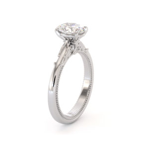 Oval Solitaire Engagement Ring Oval Moissanite Gold Ring Proposal Diamond Altentative Ring