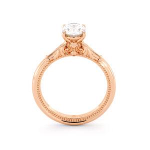Delicate Oval Moissanite Engagement Ring Oval Forever One Moissanite Ring