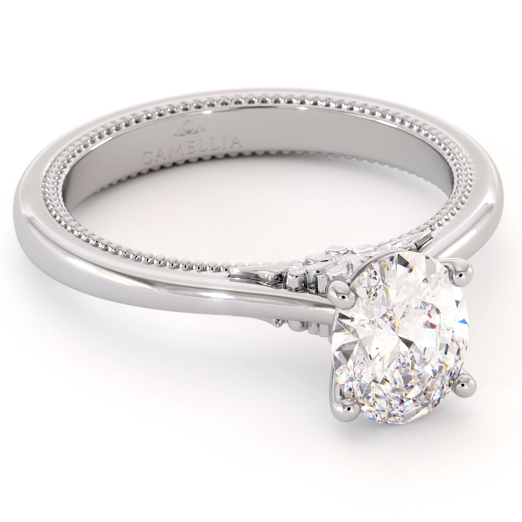 Moissanite Engagement Ring Oval Shape 8x6mm Moissanite Ring Gold Ring