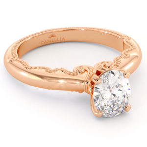 Moissanite Ring Royal Art Engagement Ring Modern Solitaire Wedding Ring Oval Cut