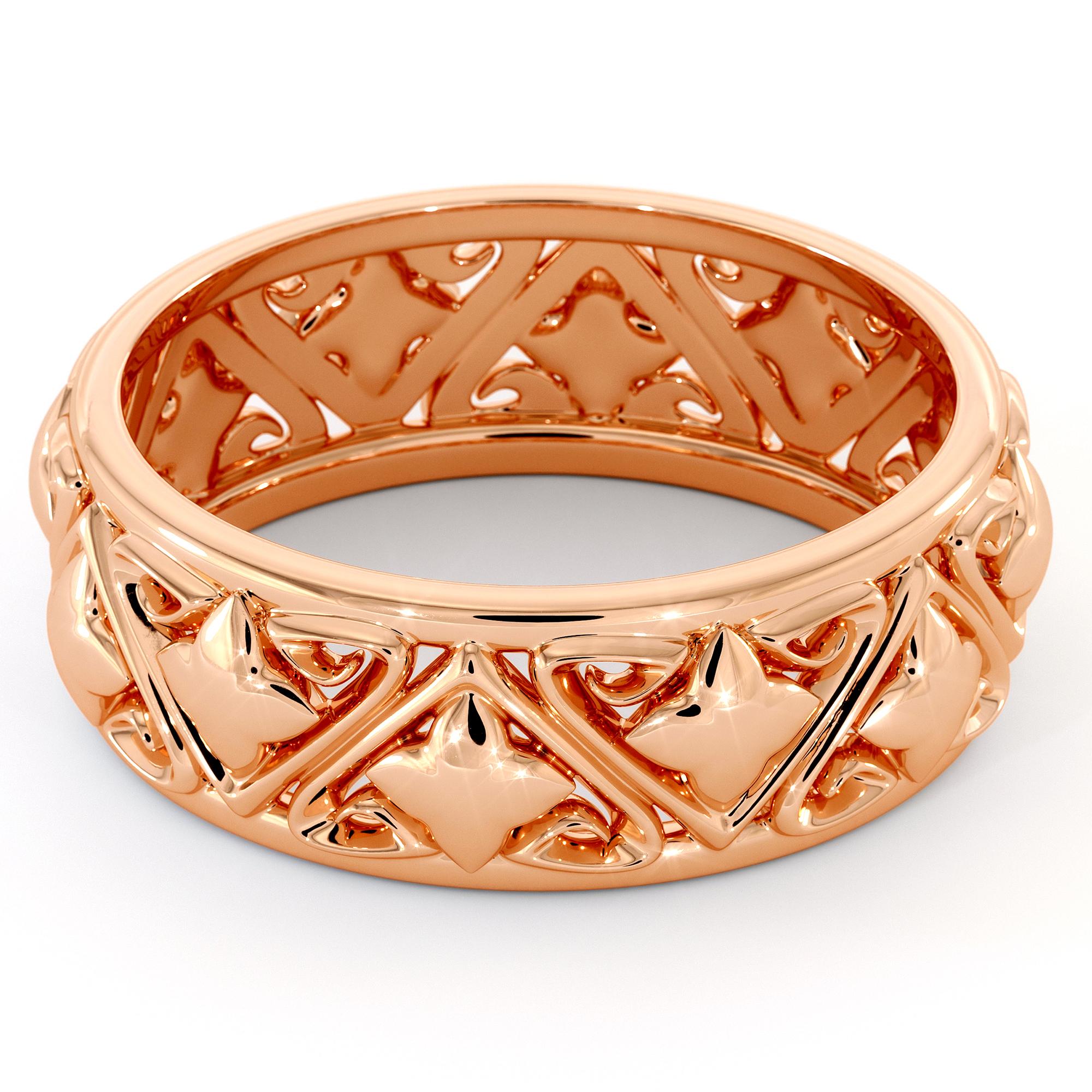 Wedding Band Mens Rose Gold Most Unique Mens Band Unique Filigree Ring