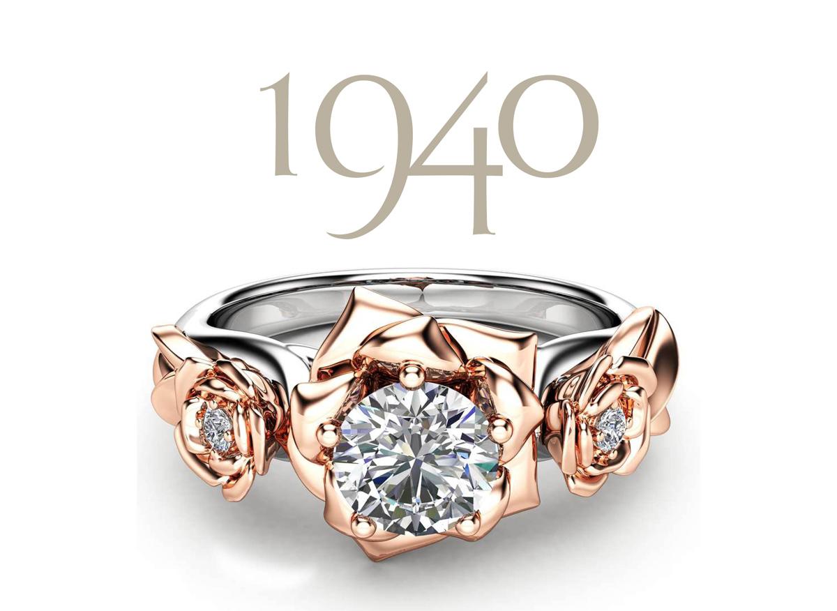 moissanite flower engagement ring 14k