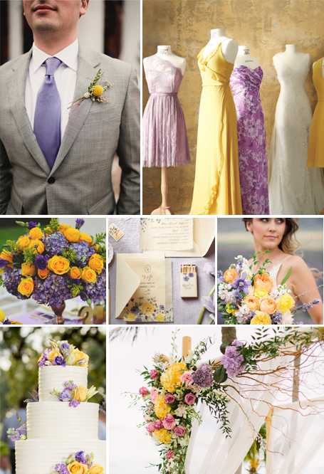 yellow and lavender color palette