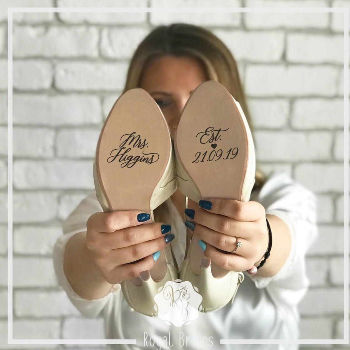 bridal shoe decals