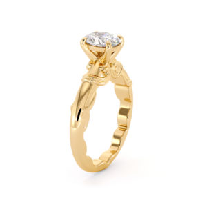 Classic Inspired Oval Moissanite Wedding Ring 1.5 Ct Engagement Ring