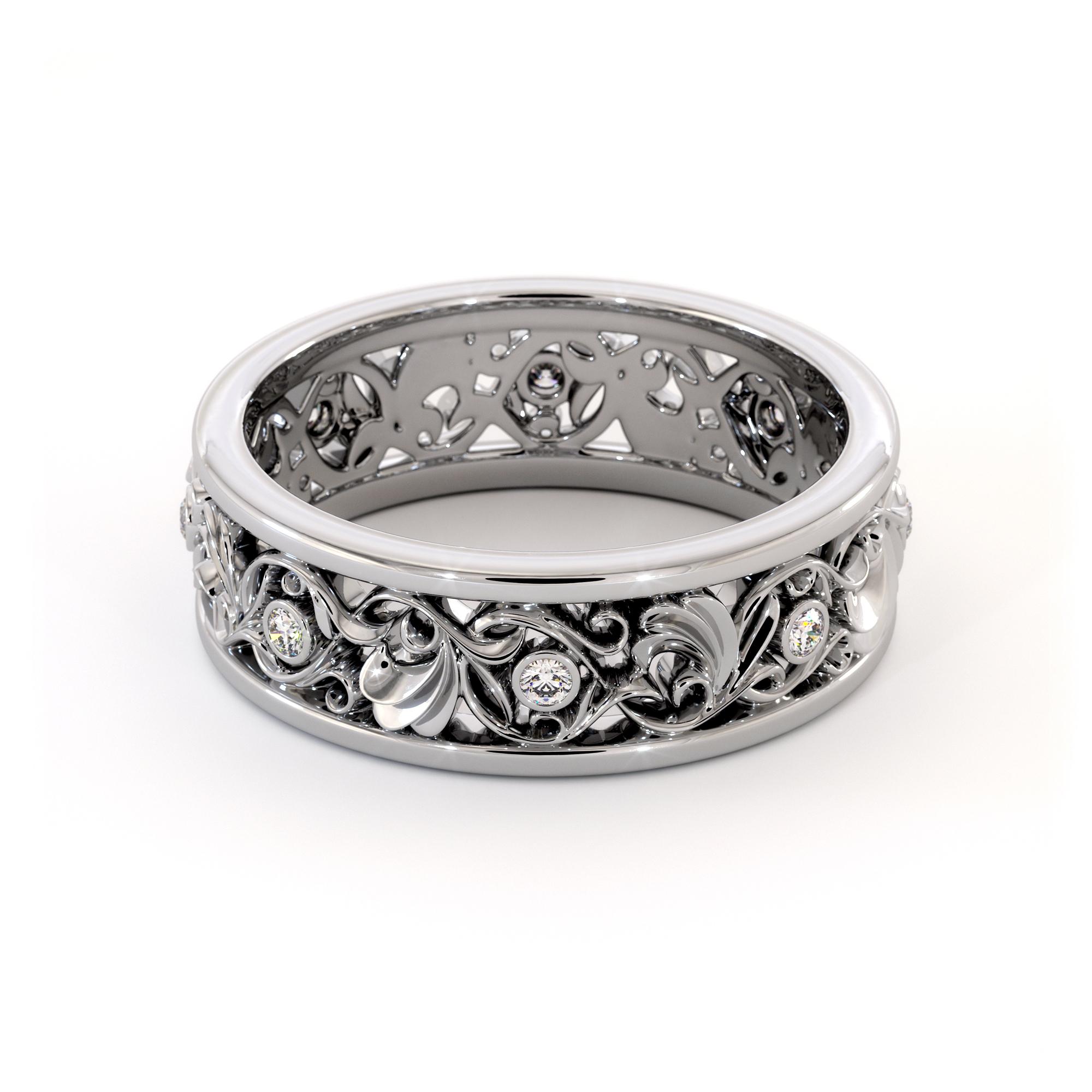 Women Wedding Band Unique Wedding Ring Gold Wedding Ring