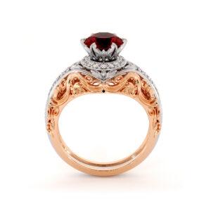 Noble Ruby Unique Engagement Ring