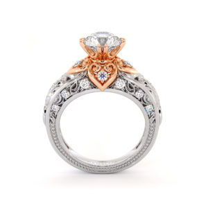 Regal Vintage Moissanite Engagement Ring