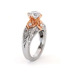 Regal Vintage Moissanite Engagement Ring