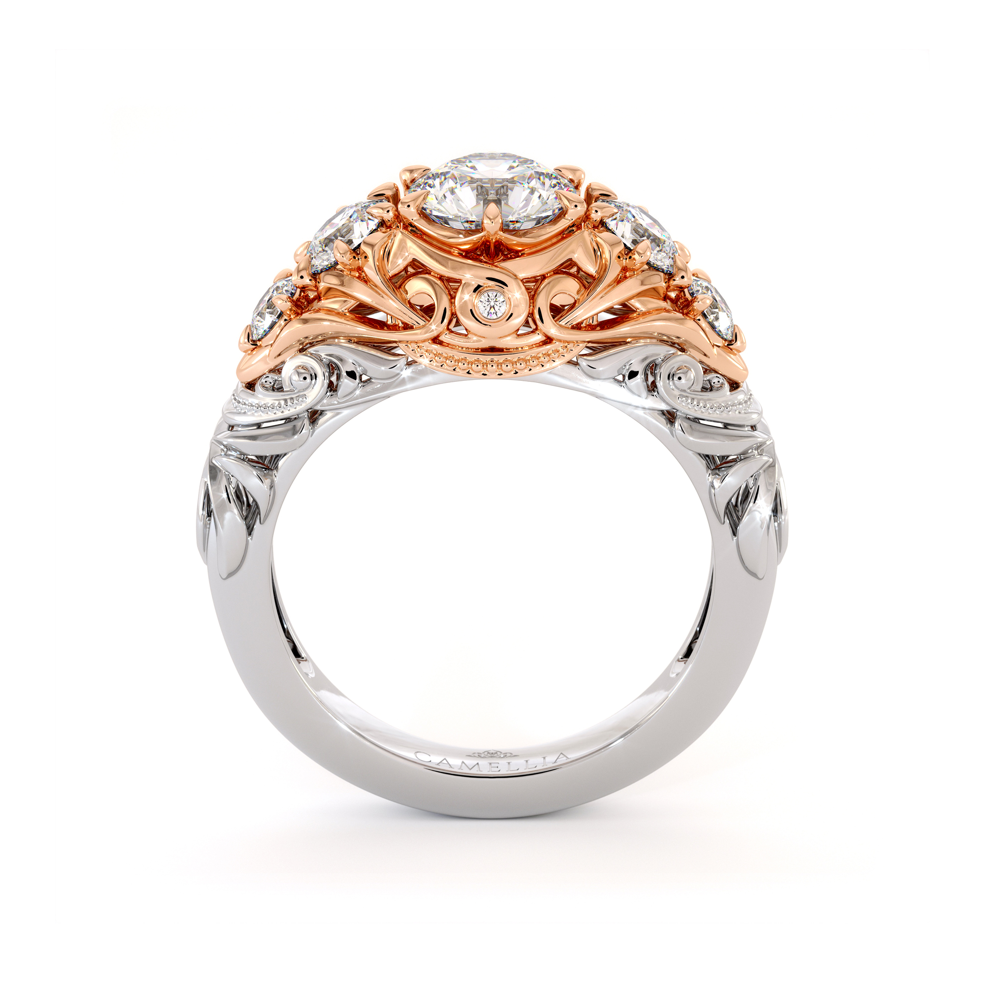 Timeless Five Stone Engagement Ring