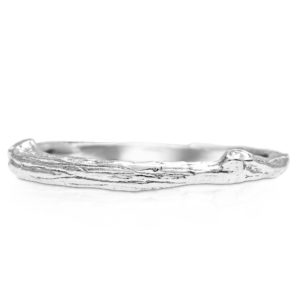 Branch Wedding Ring Twig Band Nature Inspired 14K Ring Wedding Band Delicate Band