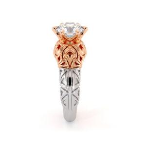 Splendid 1.55 Carat Moissanite Engagement Ring Unique Modern Gold Engagement Ring